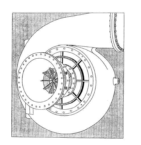 Suction End Of A Centrifugal Compressor Showing Prerotation Vanes